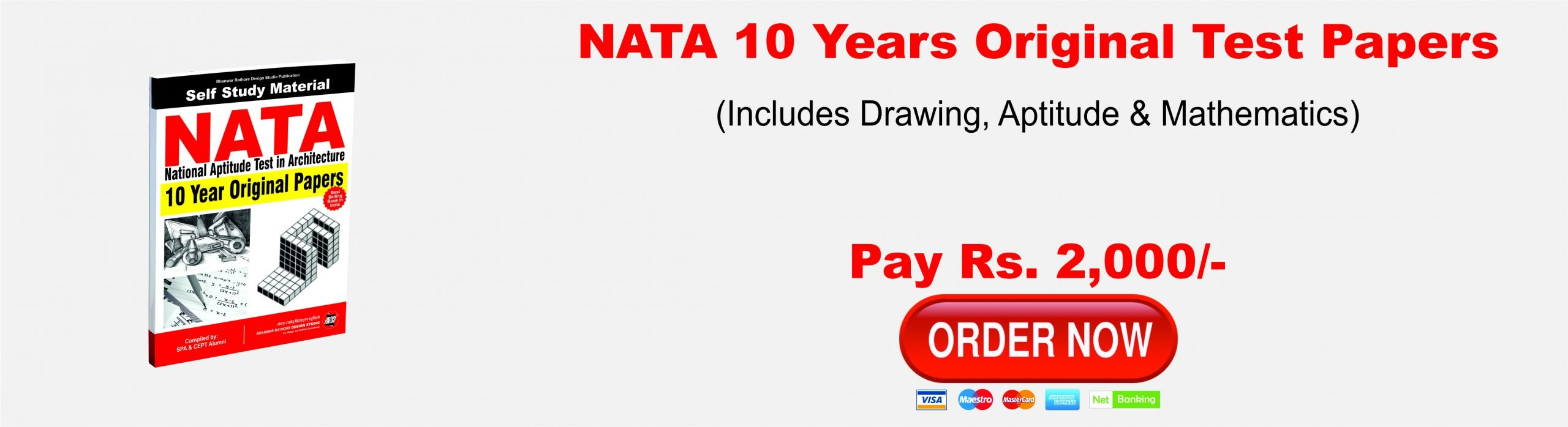 NATA 10 Years Original Test Papers